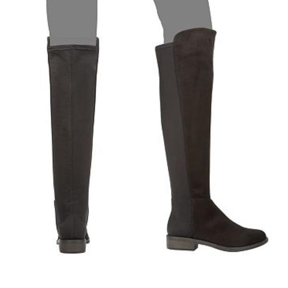 Rebel By Zigi Black Over The Knee Boots